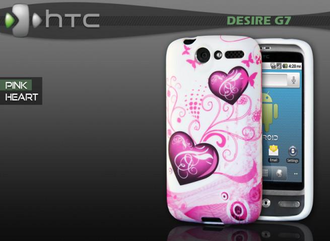 """Coque HTC Desire G7 """"Pink Heart"""""""