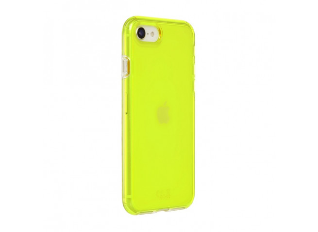 Coque iPhone 7/8/se 2020 Clear Hybrid Fluo Jaune