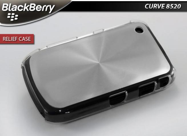"""Coque BlackBerry Curve 8520 """"Relief Case""""-Argent"""