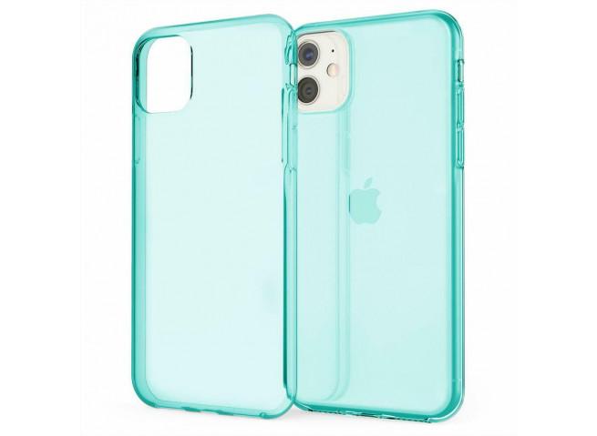 Coque iPhone 11 Clear Hybrid Fluo Bleu