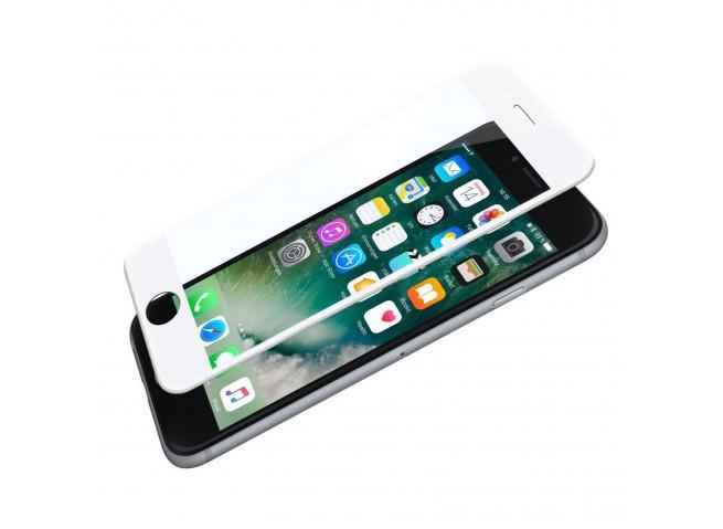Film Protecteur iPhone 7/8 TPU+Verre Trempé-Blanc