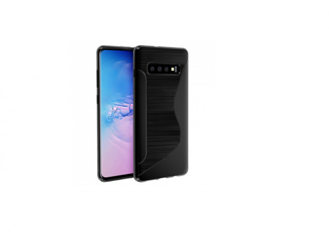Coque Samsung Galaxy S10 Silicone Grip-Noir