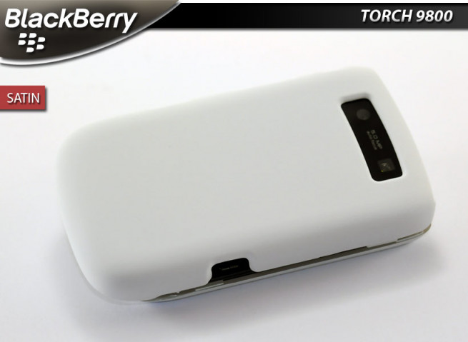 "Coque BlackBerry Torch 9800 ""Satin""-Blanc"
