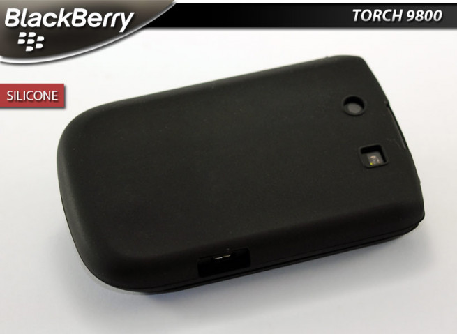 """Coque BlackBerry Torch 9800 """"Silicone""""-Noir"""