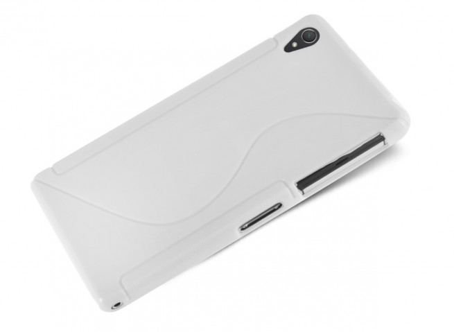 Coque Sony Xperia Z5 Premium Silicone Grip-Blanc