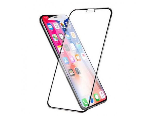 Verre trempé iPhone XR-(Full écran)-Noir