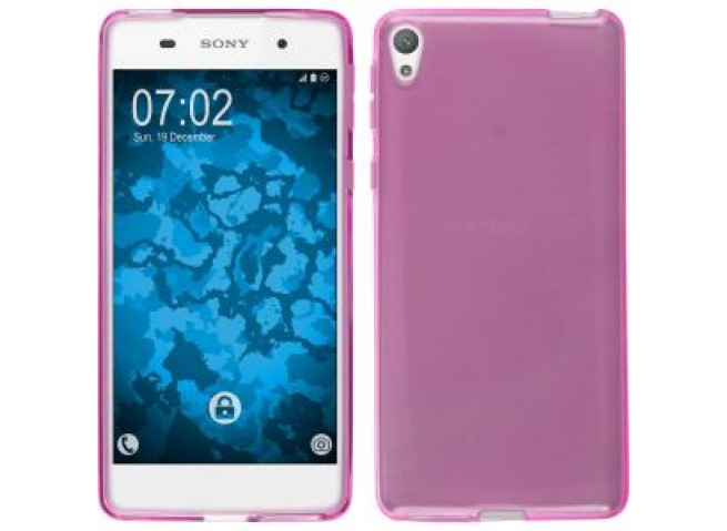 Coque Sony Xperia E5 Clear Flex-Rose