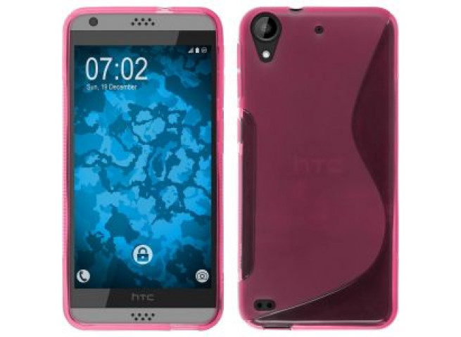 Coque HTC Desire 530 Silicone Grip-Rose
