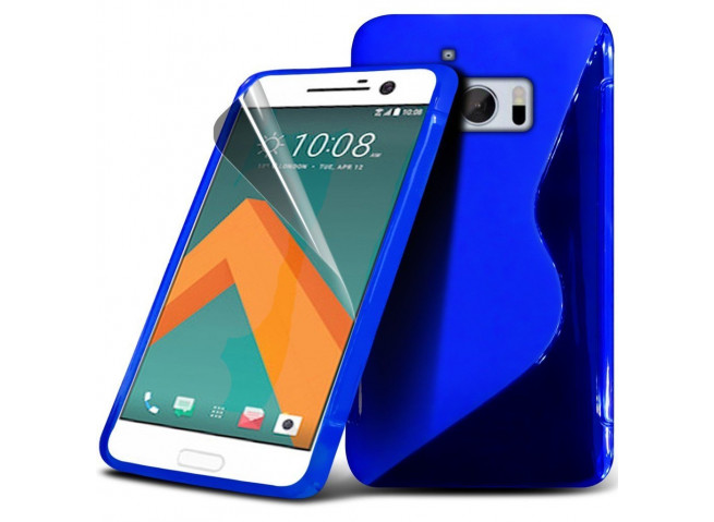 Coque HTC One M10 Silicone Grip-Bleu