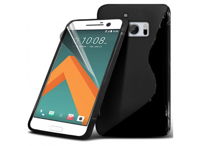 Coque HTC One M10 Silicone Grip-Noir