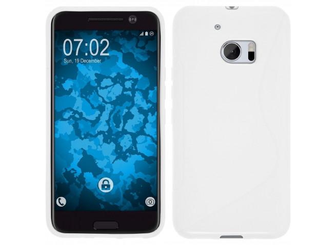 Coque HTC One M10 Silicone Grip-Blanc