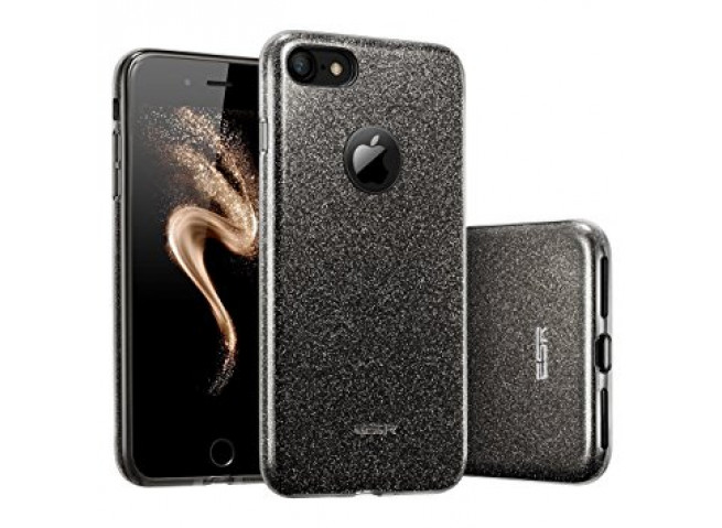 Coque iPhone 7 Plus / iPhone 8 Plus Glitter Protect-Noir