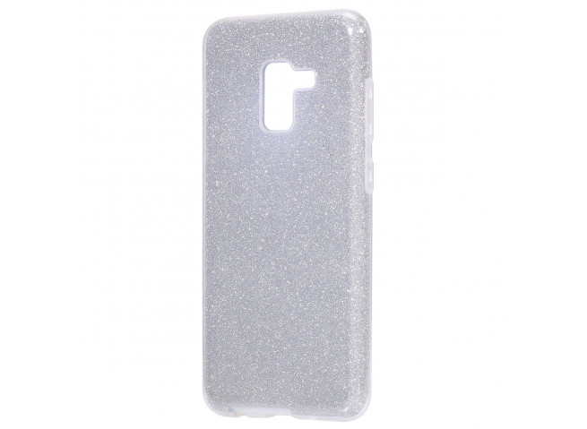 Coque Samsung Galaxy J6+ 2018 Glitter Protect-Argent