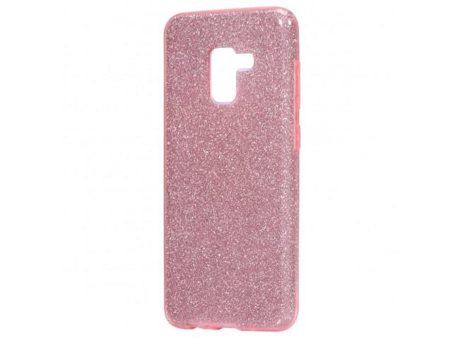 Coque Samsung Galaxy A6 2018 Glitter Protect-Rose