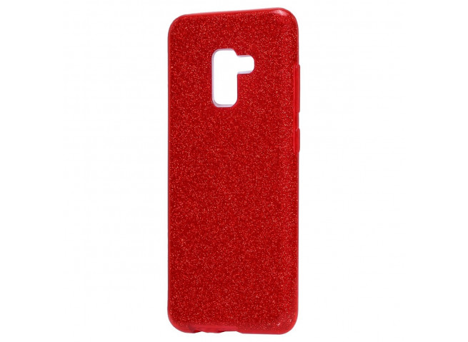 Coque Samsung Galaxy J6+ 2018 Glitter Protect-Rouge