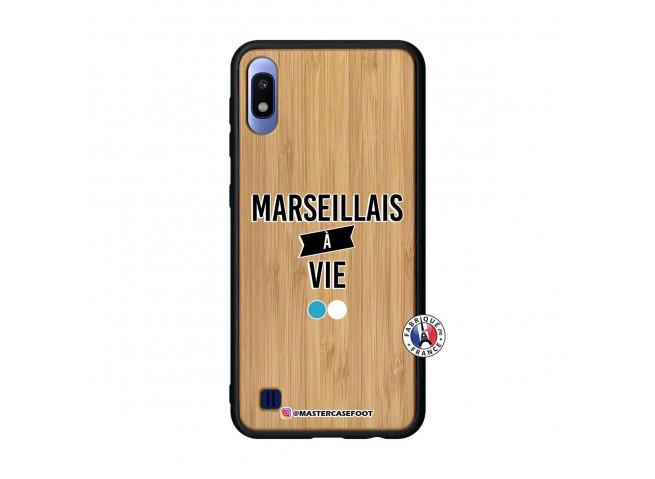 Coque Samsung Galaxy A10 Marseillais à Vie Bois Bamboo