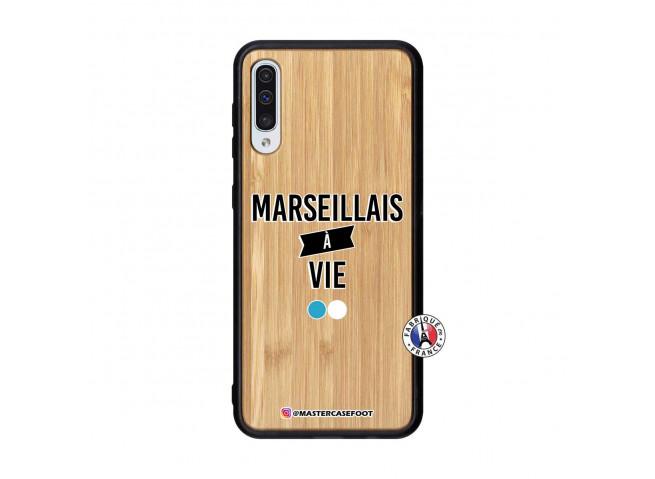 Coque Samsung Galaxy A50 Marseillais à Vie Bois Bamboo