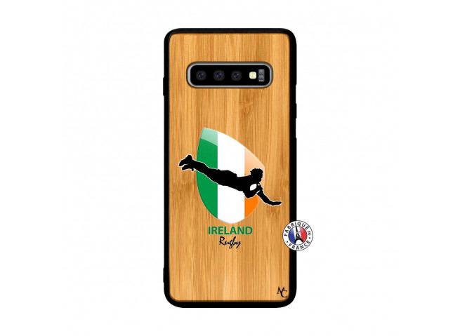 Coque Samsung Galaxy S10 Plus Coupe du Monde Rugby-Ireland Bois Bamboo