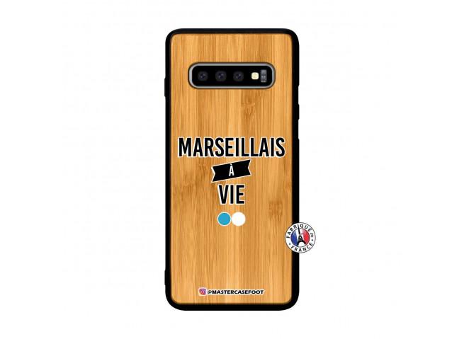 Coque Samsung Galaxy S10 Plus Marseillais à Vie Bois Bamboo