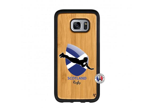 Coque Samsung Galaxy S7 Coupe du Monde Rugby-Scotland Bois Bamboo