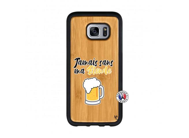 Coque Samsung Galaxy S7 Jamais Sans Ma Blonde Bois Bamboo