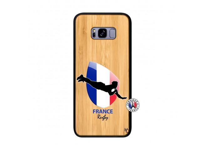 Coque Samsung Galaxy S8 Plus Coupe du Monde de Rugby-France Bois Bamboo