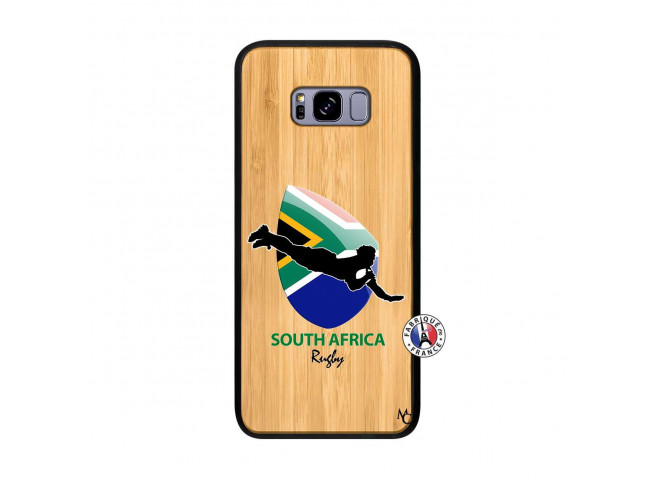 Coque Samsung Galaxy S8 Plus Coupe du Monde Rugby-South Africa Bois Bamboo