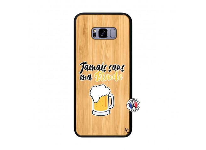 Coque Samsung Galaxy S8 Plus Jamais Sans Ma Blonde Bois Bamboo