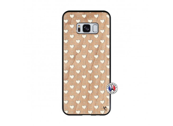 Coque Samsung Galaxy S8 Little Hearts Bois Bamboo