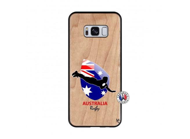 Coque Samsung Galaxy S8 Coupe du Monde Rugby-Australia Bois Bamboo