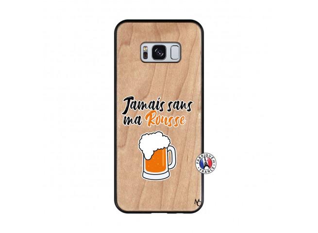 Coque Samsung Galaxy S8 Jamais Sans Ma Rousse Bois Bamboo