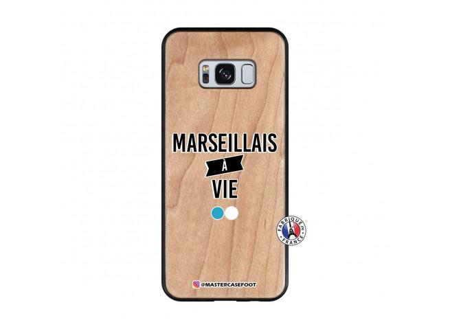 Coque Samsung Galaxy S8 Marseillais à Vie Bois Bamboo