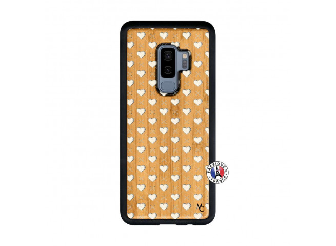 Coque Samsung Galaxy S9 Plus Little Hearts Bois Bamboo