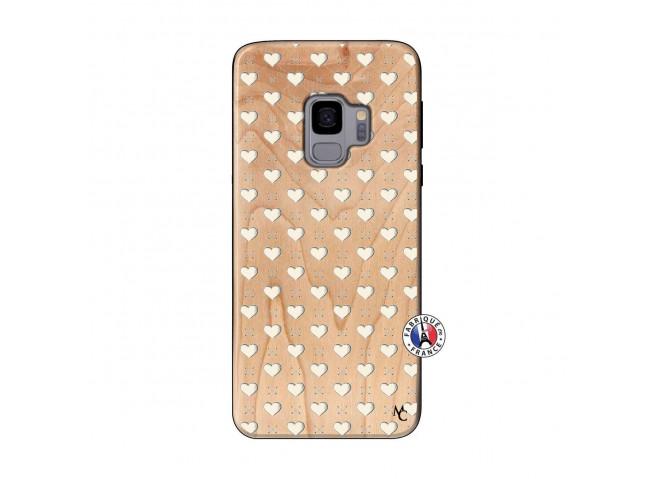 Coque Samsung Galaxy S9 Little Hearts Bois Bamboo