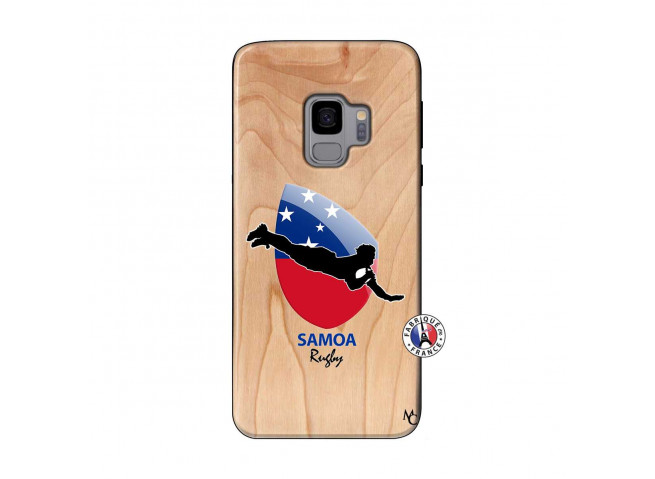 Coque Samsung Galaxy S9 Coupe du Monde Rugby-Samoa Bois Bamboo