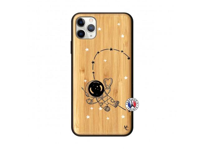 Coque iPhone 11 PRO MAX Astro Girl Bois Bamboo