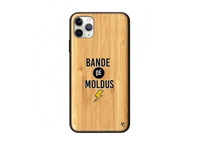 Coque iPhone 11 PRO MAX Bande De Moldus Bois Bamboo