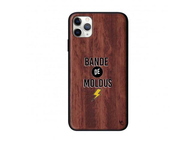 Coque iPhone 11 PRO MAX Bande De Moldus Bois Walnut