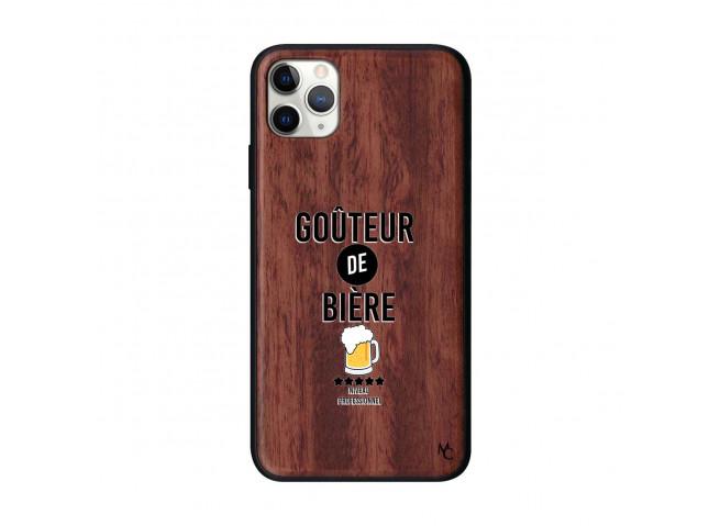 Coque iPhone 11 PRO MAX Goûteur de Bière Bois Walnut