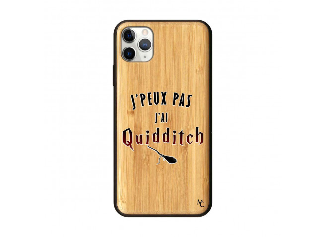 Coque iPhone 11 PRO MAX J Peux Pas J Ai Quidditch 2 Bois Bamboo