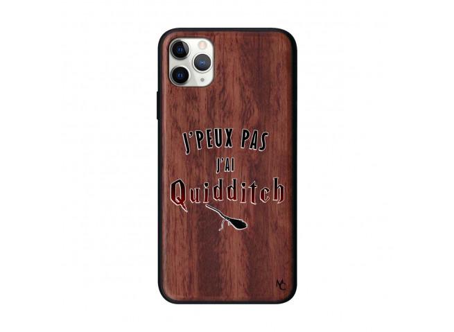 Coque iPhone 11 PRO MAX J Peux Pas J Ai Quidditch 2 Bois Walnut