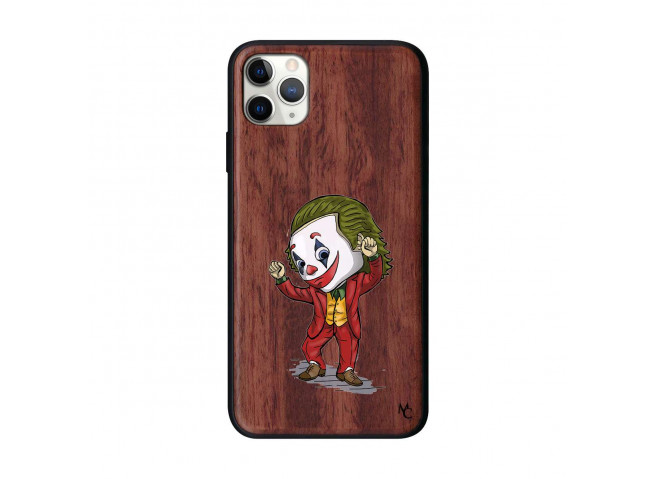 Coque iPhone 11 PRO MAX Joker Dance Bois Walnut