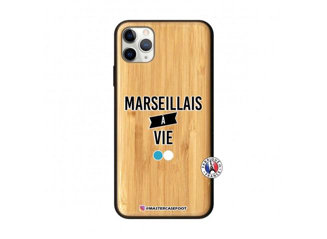 Coque iPhone 11 PRO MAX Marseillais à Vie Bois Bamboo