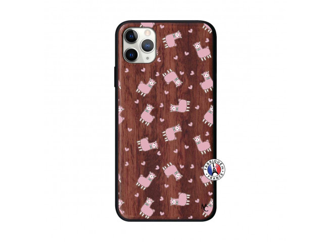 Coque iPhone 11 PRO MAX Petits Moutons Bois Walnut