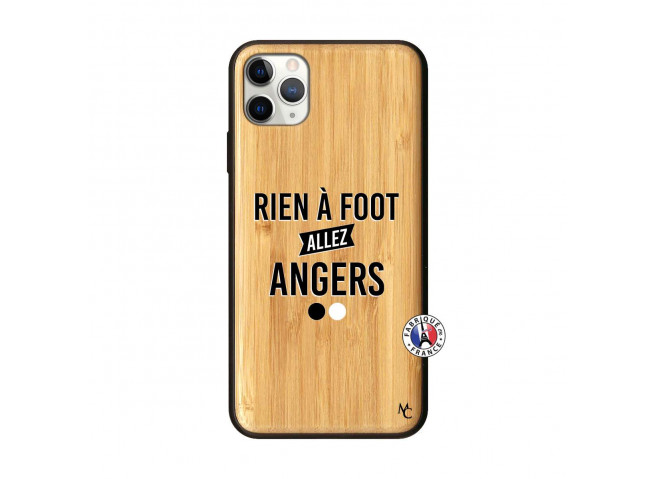 Coque iPhone 11 PRO MAX Rien A Foot Allez Angers Bois Bamboo