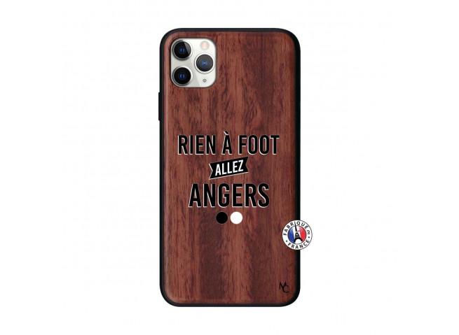 Coque iPhone 11 PRO MAX Rien A Foot Allez Angers Bois Walnut