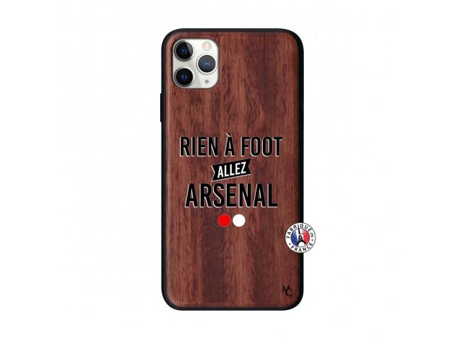 Coque iPhone 11 PRO MAX Rien A Foot Allez Arsenal Bois Walnut