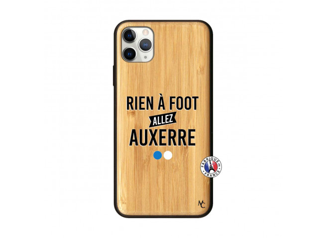 Coque iPhone 11 PRO MAX Rien A Foot Allez Auxerre Bois Bamboo