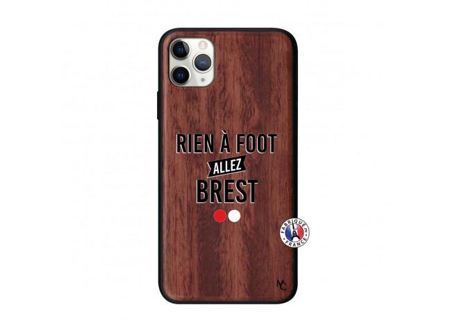 Coque iPhone 11 PRO MAX Rien A Foot Allez Brest Bois Walnut
