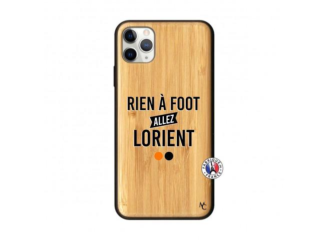Coque iPhone 11 PRO MAX Rien A Foot Allez Lorient Bois Bamboo